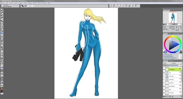 Messing around with Corel Painter 12 by lordofhalo333.deviantart.com on @deviantART