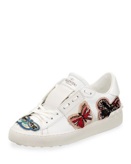 1670bb9cbb42 Open Butterfly-Embroidered Sneaker