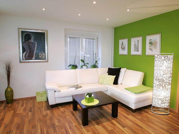 naturalidad en el salón con color verde