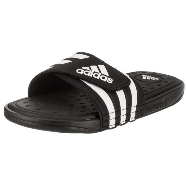 Adidas Men\u0027s Adissage Cf Sandal ($40) ? liked on Polyvore featuring men\u0027s  fashion, men\u0027s shoes, men\u0027s sandals, shoes, adidas mens shoes, adidas men\u0027s  ...
