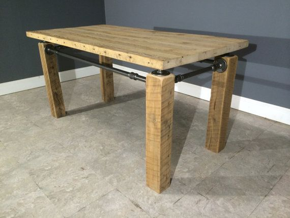 Modern Industrial Table/Desk Made From by UrbanWoodFurnishings