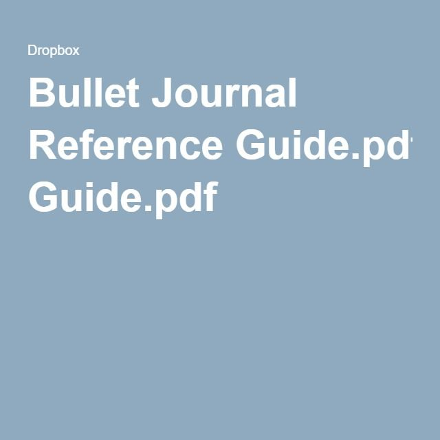 Bullet Journal Reference Guide.pdf