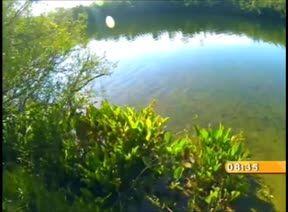 A Lagoa Dourada, no Parque Estadual de Vila Velha, em Ponta Grossa-PR.