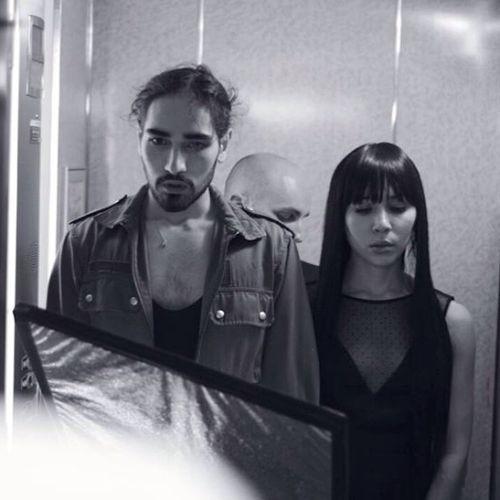 Willy Cartier & Sofiia Manousha on set of Brûle   ph. Dimitri Balan