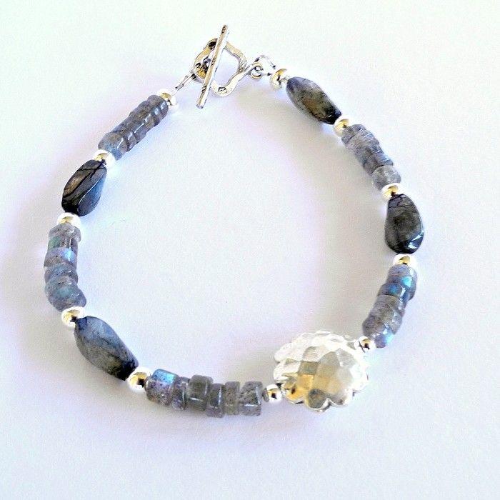 Labradorite Karen Hill Tribe Silver & Sterling Silver Bracelet