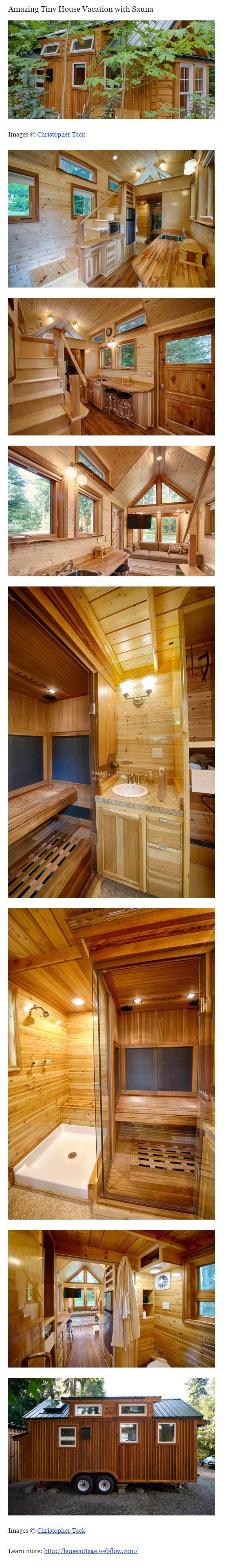 Amazing Tiny House Vacation with Sauna — http://tinyhousetalk.com/amazing-tiny-house-vacation-with-sauna/