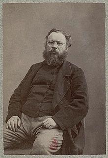"""Pierre-Joseph Proudhon (anarchiste socialiste => influence courbet """"industrie nuit aux ouvrirers et société)"""