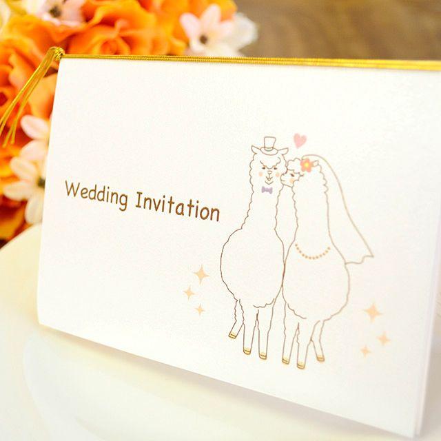 手作り【招待状キット】アルパカ(1名様分) ラピスラズリオリジナル!アルパカをモチーフにした手作り招待状キット。 幸せなおふたりにぴったりな可愛いアルパカのデザインです♪ ナチュラルアットホームな結婚式や、動物好きなおふたりにおすすめですよ(*^^*)★