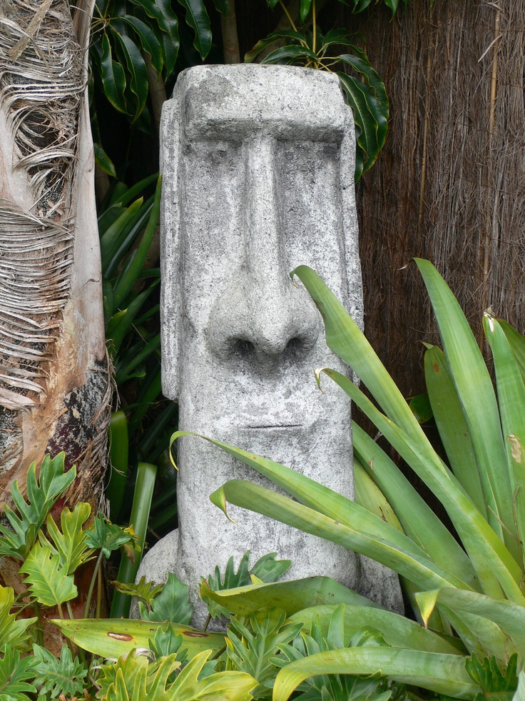 Garden art at the office of Fusion Landscape Design Ltd. Affectionately known as Mr Ugly. www.fusionlandscapedesign.co.nz
