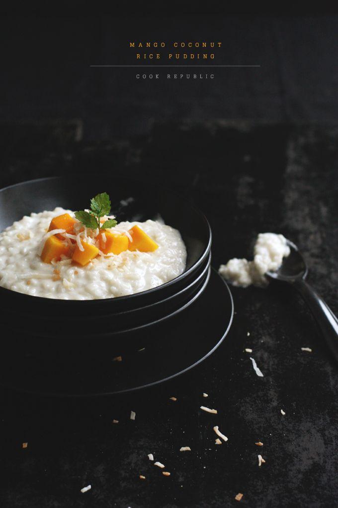 Mango Coconut Rice Pudding (via theblogcurator.com)