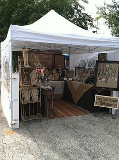 Tent table display