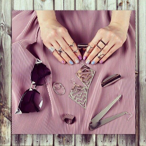 Pastel aztec nails by Ziggy Glitterdust nailpolish, gellac, fashion, lilac