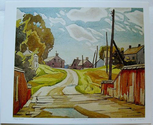 $29.99  Group OF Seven ART Print Sunshowers BY A J Casson | eBay