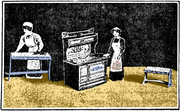 Kitchen furniture for Miss Paper Doll (1911)