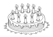 Pin auf Happy Birthsday coloring