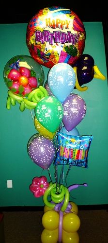 Happy Birthday Balloons Bouquete