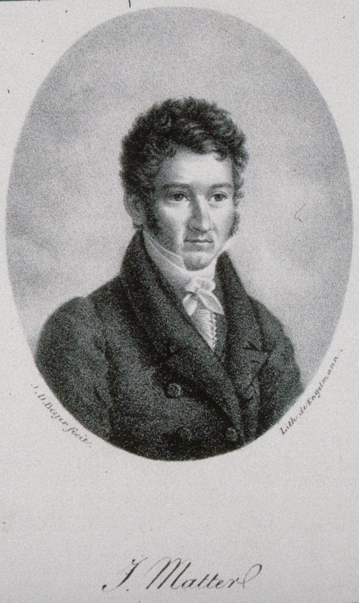 Jacques Matter. 1830. Litogravura. Ilustrador,  Beyer e Godofrey Engelmann, litógrafo.