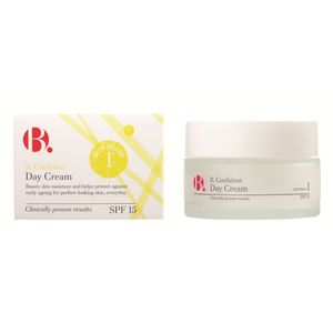 Use B. Confident Day Cream for perfect skin with this light, fast-absorbing formula – the ideal base for makeup. 12hr hydration – Packed with Hyaluronic Acid to moisturise deep down.