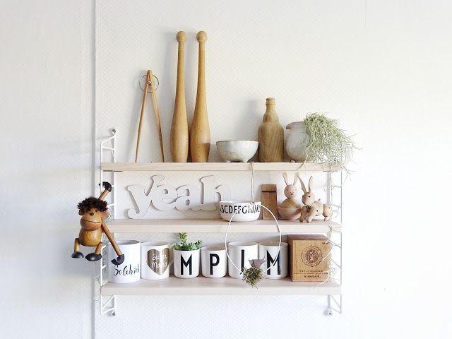 String-Regal in der Küche mit Holz-Deko als Lieblinge & Inspirationen der Woche   www.mammilade.blogspot.de   Louisianamoos
