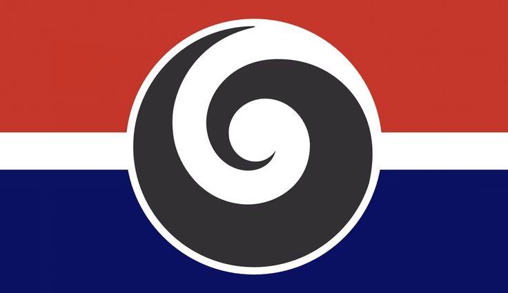 #nzflag, #flags, #NZ, Inclusive Koru Flag designed for Gareth Morgan's 'Design My Flag' contest. © Chris Heath