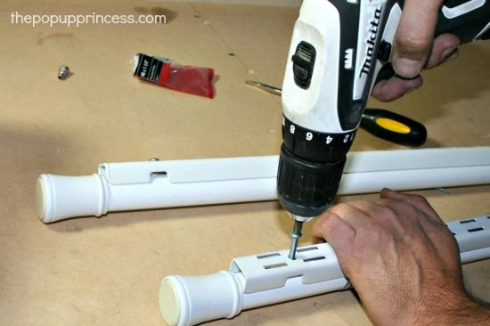 creating shelving using tension rods - Google Search