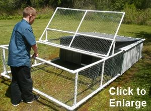 Get free plans for the easy to move PVC Chicken Tractor at http://www.raisingbackyardchickens101.com/chicken-tractor-plans.html