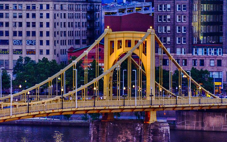 Excited to share the latest addition to my #etsy shop: Pittsburgh Golden Bridge  #yellow #pittsburgh #bridge #usa