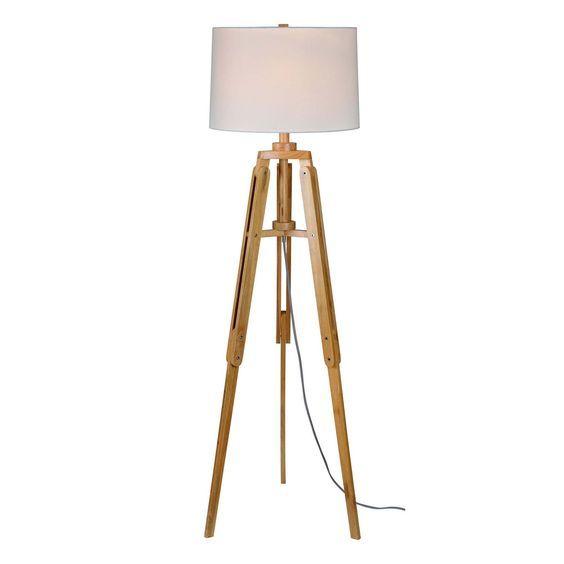 Ren-Wil LPF577 Norske 1 Light Floor Lamp in Natural Wood