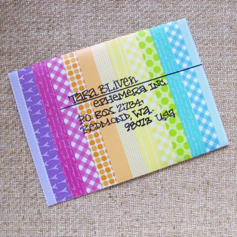 Washi tape on an envelope
