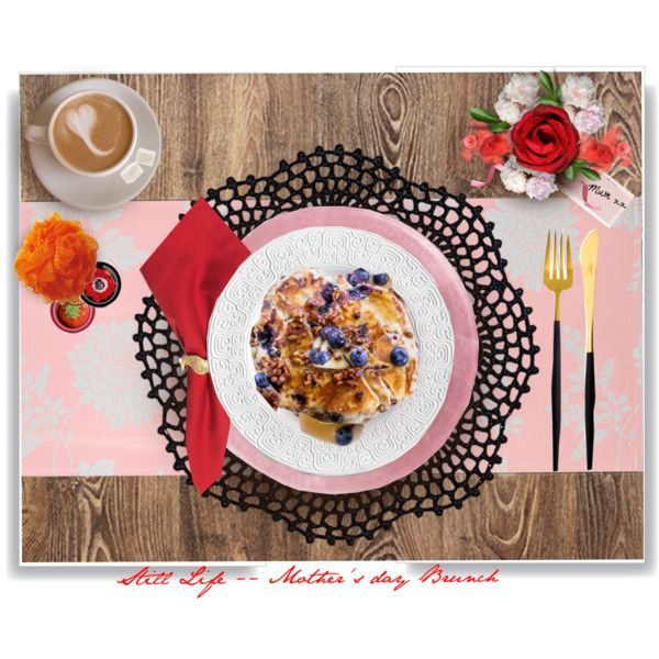 Blueberry Pancakes.. by vkevans on Polyvore featuring interior, interiors, interior design, home, home decor, interior decorating, Baci, Homewear, L'Objet and Jonathan Adler