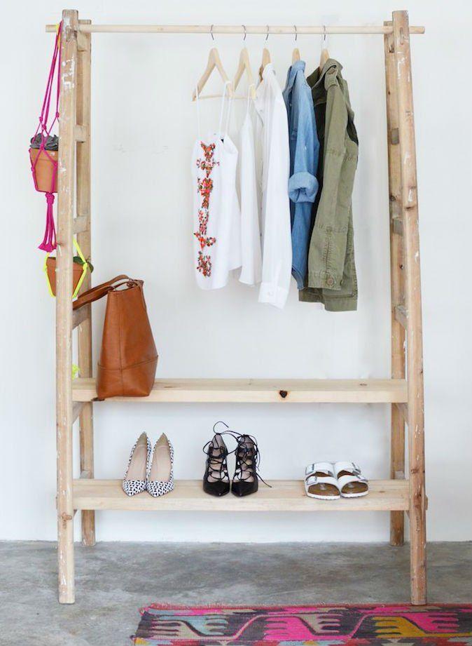 Как сделать шкаф с вешалкой своими руками