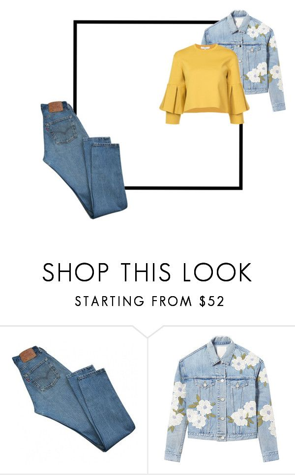 """""""SPRING10"""" by valentina-badeanu on Polyvore featuring Levi's, Rebecca Taylor and TIBI"""