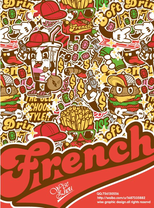 Fast-food family by wisezhou , via Behance