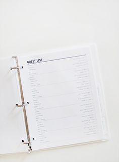 diy guest list template