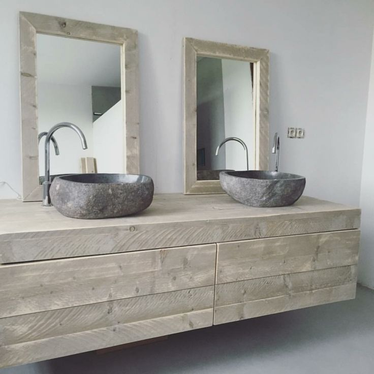 25 beste idee235n over badkamermeubel op pinterest houten