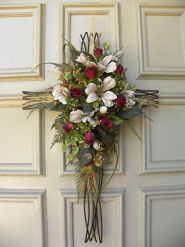 Wrought Iron Door Cross Arrangement