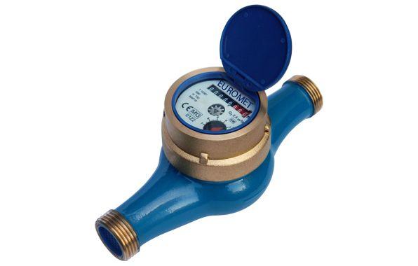 Mekanik ön ödemeli ev tipi çok huzmeli soğuk su sayacı.