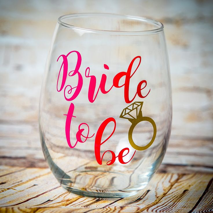 Bride to be Stemless Wine Glass, Future Mrs, Engagement Wine Gift, Bride Gift, Bachelorette Gift, Bridal Shower, Stemmed Wine Glass, Wedding by TraceysTrendyVinyl on Etsy