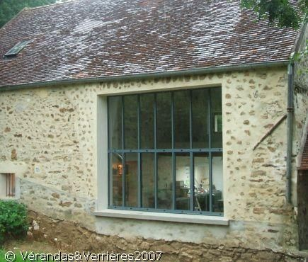 Les 109 meilleures images propos de baie vitr e sur pinterest portes coul - Fenetre atelier exterieur ...