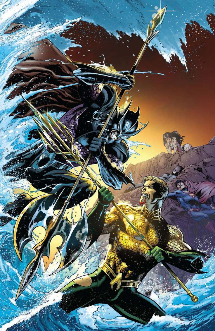 Aquaman vs Ocean Master by Paul Pelletier