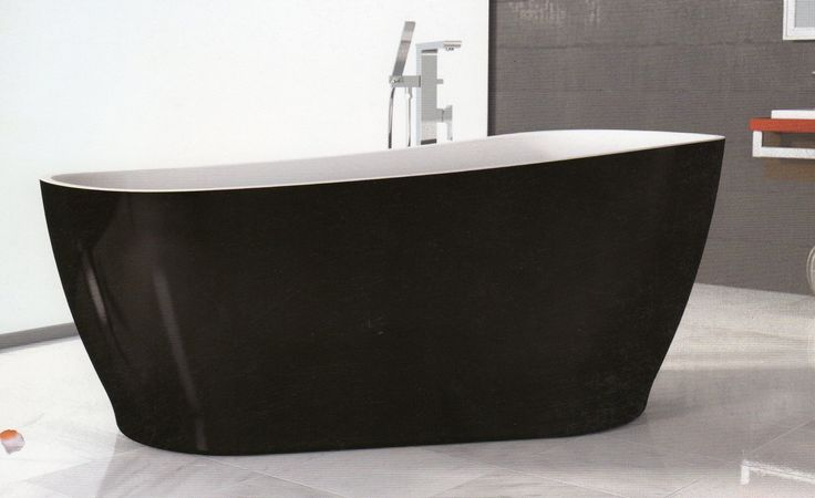 Caroma Noir Freestanding Bath. Makes a statement!