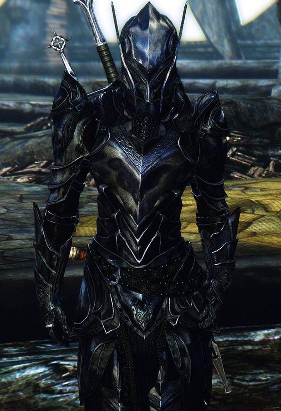 Reinforced Ebony Armor TES V Skyrim Gamer Modsru