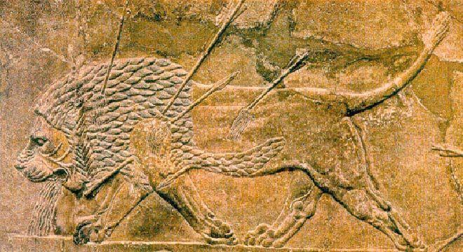 Царская охота, Рельеф Дворца Ашшурбанапала. Ирак.