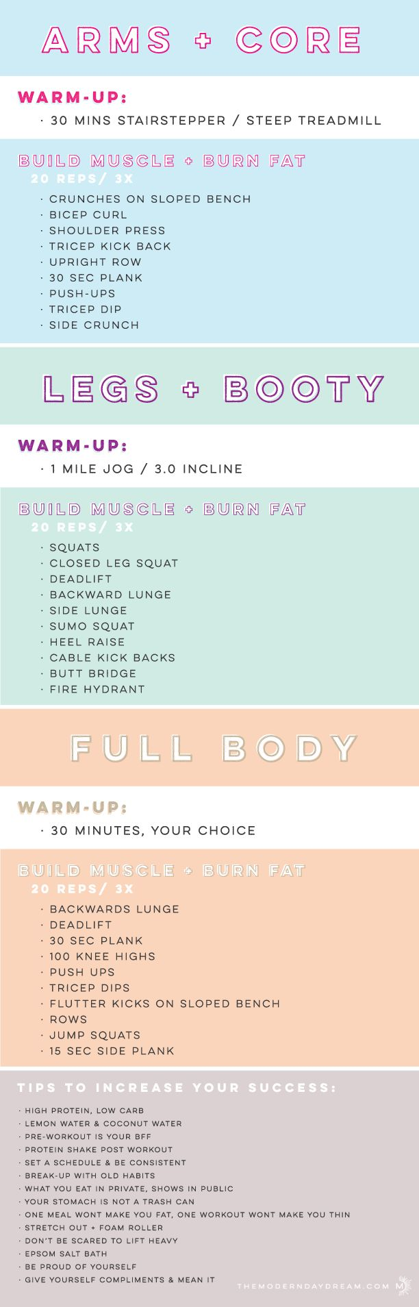 Full Body Workout Plan // In need of a detox? Get 10% off your teatox order using our discount code 'Pinterest10' on www.skinnymetea.com.au