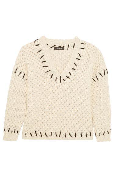 Isabel Marant - Goldy Chunky-knit Wool-blend Sweater - Ecru - FR