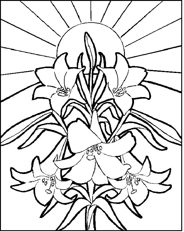 easter lilies coloring page
