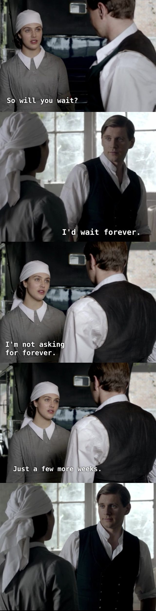 Sybil and Branson - Downton Abbey quote. I thought I ha totally moved on past Sybil's death, but now I'm depressed and melancholy and longing for Branson again,