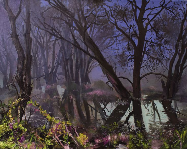 Fairyland oil on canvas, 80x63cm Eva Fajcikova