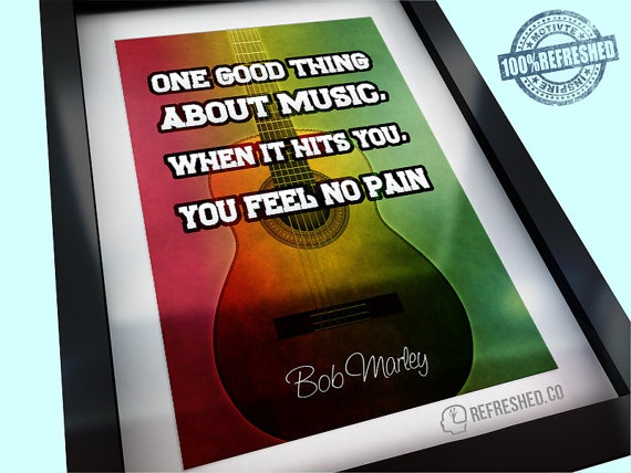 Bob Marley poster ~ One good thing about music by Refreshedco, £8.99