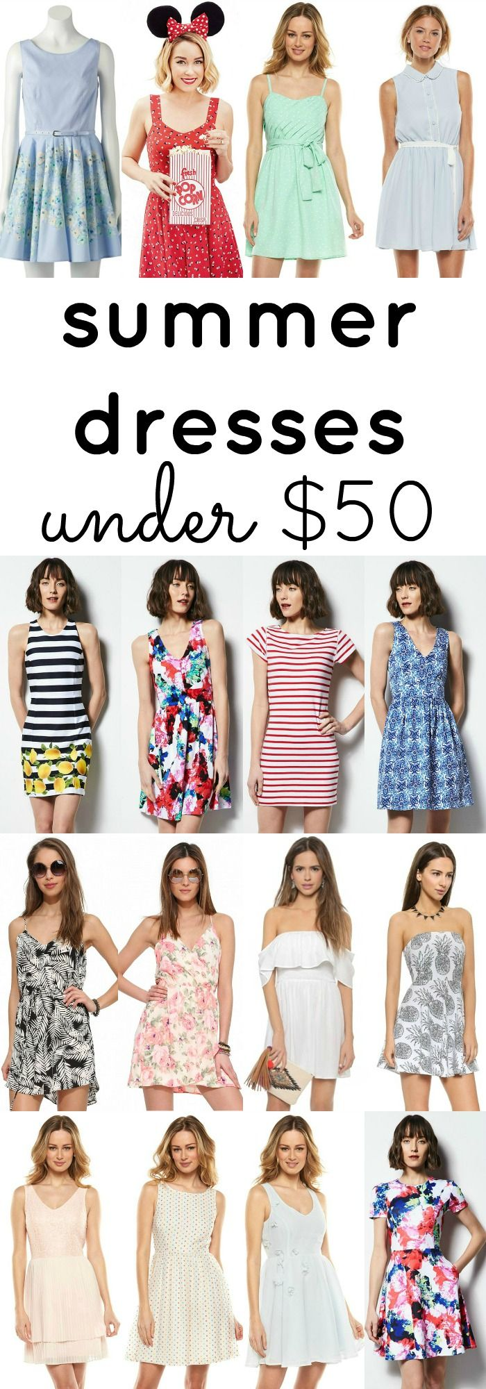 This post features over 60 dresses that are perfect for summer, and they're ALL under $50!